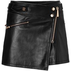 JUST CAVALLI Black Mini Leather Skirt and other apparel, accessories and trends. Browse and shop 8 related looks.