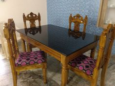 Table And Chairs, Wood, Furniture, Table, Bed Design, Chair, Door Design Wood, Home Decor, Dinning Tables And Chairs