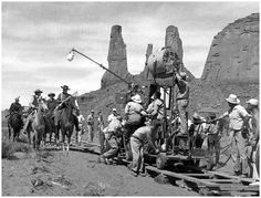 John Ford filming 'The Searchers', 1956