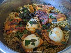 mixture Biryani Recipe, Spinach Stuffed Mushrooms, Cooking Recipes, Eggs, Meat, Chicken, Breakfast, Ethnic Recipes, Food