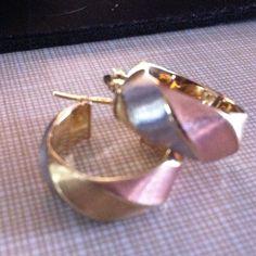 Sale Beautiful Tri Color Earrings 14k Italy Stmpd