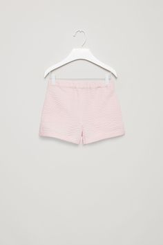 COS image 4 of Printed poplin shorts in Powder Pink