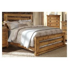 Progressive Furniture Willow Slat Panel Bed - Distressed Pine - Queen - Headboard Only Bed Frame, Headboard And Footboard, Furniture, Upholstered Panel Bed, Bedroom Sets, Slatted Headboard, Bed Slats, Upholstered Headboard, Bedroom Furniture