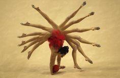 Arina Charopa, #Bielorussia, durante i campionati mondiali di ginnastica artistica a #Izmir, #Turchia