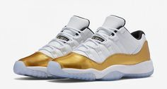 Air Jordan 11 Low White Gold Olympic Release Date. Air Jordan 11 Low Closing Ceremony Release Date August 2016 Jordan Retro 11 Low, Air Jordan 11 Low, Nike Air Jordan Retro, Jordan Shoes, Jordan Swag, Basket Style, Baskets, Sneaker Magazine, Best Sneakers