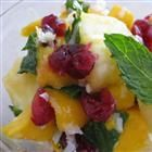Mango Pineapple Salad with Mint Recipe:  This is a fresh summer salad that is sweet enough to call dessert.