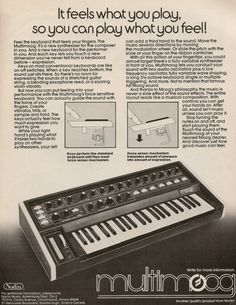 Moog Multimoog synthesizer from page 9 of Contemporary Keyboard magazine September 1978.