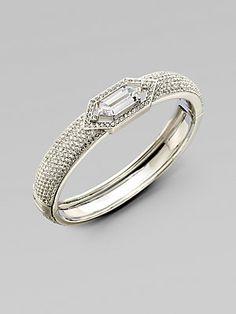 Adriana Orsini Stone Encrusted Bangle Bracelet