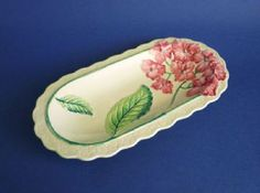 Carlton Ware Pink 'Hydrangea' Sandwich Tray or Dish Pink Hydrangea, Pink Flowers, Sandwich Trays, Green Ground, Dresden Porcelain, Carlton Ware, Vintage Beauty, Vintage Style, Ceramic Design