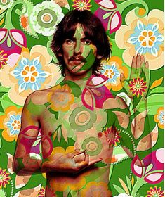 The Beatles George Harrison psychedelic Ringo Starr, George Harrison, Paul Mccartney, John Lennon, Peace And Love, All You Need Is Love, Pochette Cd, Liverpool, Beatles Art