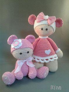 Muñecos crochet Mini Amigurumi, Crochet Doll Pattern, Crochet Patterns Amigurumi, Amigurumi Doll, Crochet Dolls, Knitted Dolls, Crochet Gifts, Cute Crochet, Beautiful Crochet