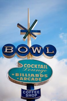 I have not only seen this sign, but I have bowled there!!! I ❤ Oceanside!! Surf Bowl Vintage Neon Bowling Alley Sign - Oceanside California