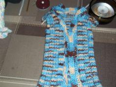 a knit vest.