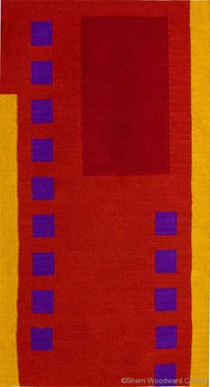Door, hand-dyed wool tapestry on cotton warp, 50 x 28 inches, Wall Gallery ©Sherri Coffey
