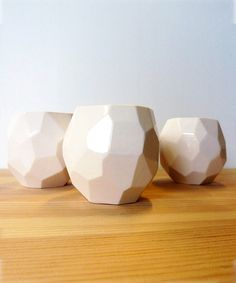 Polygon Espresso Cups #geometric #ceramic #handmade