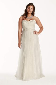 6163c82ab99d David's Bridal has beautiful plus size wedding dresses that come in a  variety of sizes &