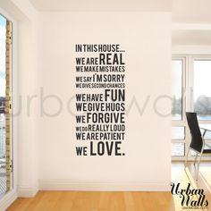 Vinile Wall Sticker Decal In questa casa che di urbanwalls su Etsy