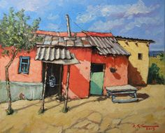 David Croitor Building Painting, Building Art, African Art Paintings, Animal Paintings, Watercolor Pictures, Watercolor Art, South African Art, Art Pictures, Photos