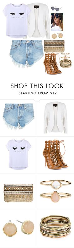 """""""Bez naslova #165"""" by chris-383 ❤ liked on Polyvore featuring One Teaspoon, River Island, Chicnova Fashion, Gianvito Rossi, Skemo, Accessorize, Cole Haan and Kendra Scott"""