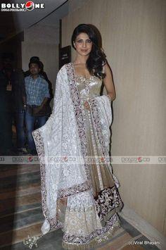 $491.30 Priyanka Chopra In Off White Lehenga Choli 14243
