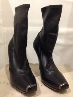 SALE*** Stella Mccartney Gun Metal Boots US-9.5 EU-39 UK-6.5 Designer Fashion