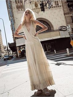 Free People White Oberoi Embellished Maxi Wedding Dress-XS-$250 MSRP #FreePeople #Maxi #CasualFestive