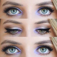 >> Lavender Eye Make-up, Love this, particularly for hooded eyes and mono lids! Love Makeup, Makeup Inspo, Makeup Inspiration, Makeup Tips, Makeup Looks, Makeup Ideas, Makeup Geek, Makeup Tutorials, Eyeshadow Tutorials