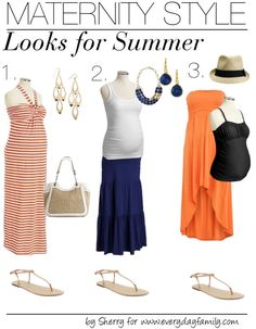 Love love love these outfit ideas!! #Maternity Style: Looks for #Summer...for all the #pregnant ladies.