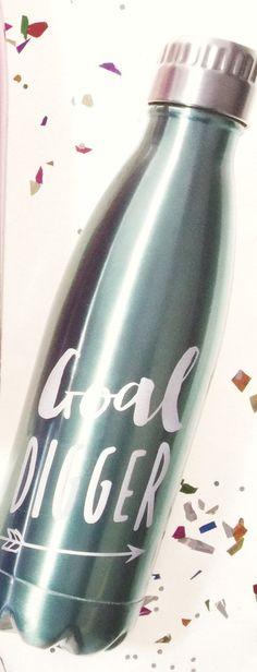"""Goal Digger"" Water Bottle #accessories #drinkware #gift #home #spring-break #under-40"