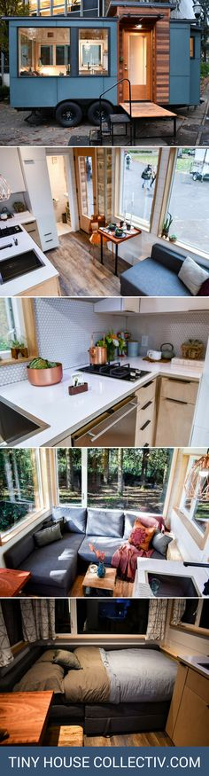 The Verve Lux: a 187-sq-ft RVIA-certified tiny house Cute, all it needs is some more curtains/blinds