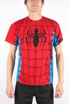 Men's Marvel Comics Spider-man Suit Costume Tie-Dye Big Print Subway T-shirt Spiderman Hoodie, T Shirt Costumes, Tie Dye T Shirts, Branded T Shirts, Mens Suits, Fashion Brands, Fashion Tips, Marvel Comics, Sweatshirts