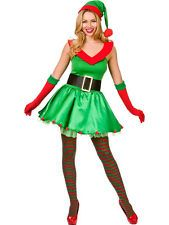 Adult Ladies Xmas Sexy Elf Fancy Dress Costume Christmas Santas Little Helper