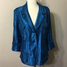 Joan Rivers size XL fabulous teal Jacket NWOT,lightweight,lined,beautiful teal color jacket Joan Rivers Jackets & Coats Blazers