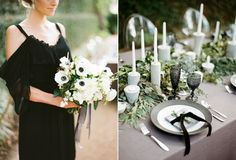 I am obsessed with this colour combination! Black, grey and sage – modern and sophisticated yet pretty and soft. Greenery...