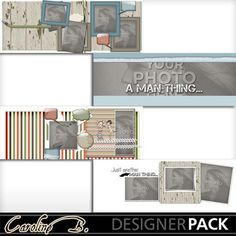 Digital Scrapbooking Kits | A Man Thing FB Covers 2-(carolnb) | Boys, Everyday, Family, Friends, Holidays - Father's Day, Kid Fun | MyMemories