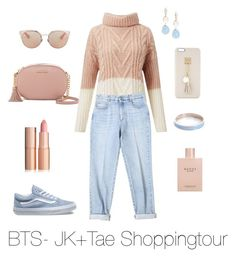 """BTS- Jungkook and Taehyung Shopping Tour"" by zucca0 on Polyvore featuring MICHAEL Michael Kors, Miss Selfridge, STELLA McCARTNEY, Saks Fifth Avenue, Vans, Whistle & Bango, Gucci, Christian Dior and Iphoria"