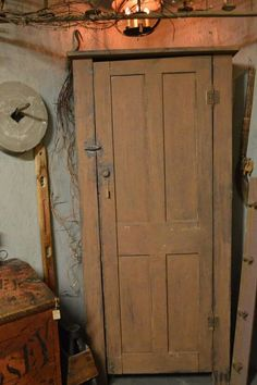 MUSTARD Chimney cupboard AT Homestead Antiques