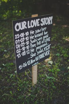 Rustic Wedding Sign Our Love Story