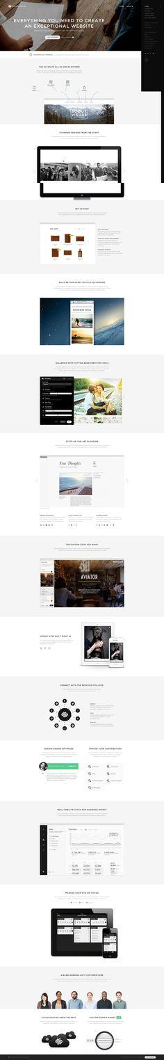 http://www.squarespace.com/ #Squarespace #websitedesign #website #navigation #menu #clean