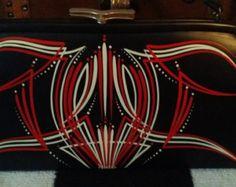 Custom pinstriped PURSE hand painted hot rod rockabilly retro