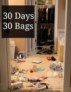 Get Organized | 30 Days = 30 Bags..interesting blog...a lot of gardening
