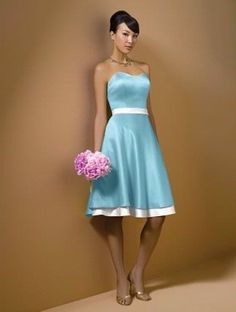 The Perfect Bridesmaid Dress For A Cinderella Wedding Pool Blue And White
