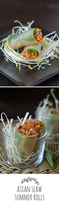 The dipping sauce is built right in to these wonderful summer rolls!