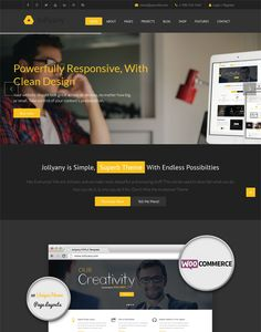 This dark Joomla theme has a responsive layout, 30+ homepage layouts, custom post types, Font Awesome icons, unlimited colors, RTL language support, Google Fonts, Revolution Slider, and more.