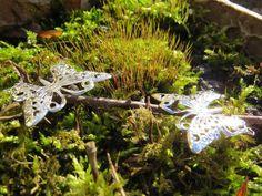 5 Schmetterlinge in silber für Tischdeko von Sonja Sonnenschein auf DaWanda.com