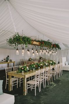 #lighting, #tents, #ceiling  Photography: Erin Jean Photography - www.erinjeanphoto.com  Read More: http://www.stylemepretty.com/2014/12/03/rustic-wisconsin-backyard-wedding/