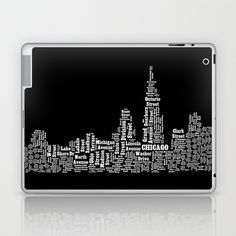 streets of chicago Laptop & iPad Skin by Ecceprints - $25.00