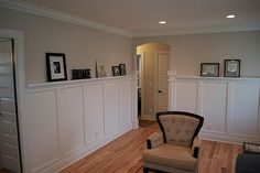 Wainscoting with picture ledge