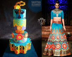 Barsaat- A Bollywood Kitsch statement - cake by Savitha Alexander Beautiful Cakes, Amazing Cakes, Amazing Art, Awesome, Cupcake Tier, Indian Wedding Cakes, Couture Cakes, Bollywood Fashion, Bollywood Style