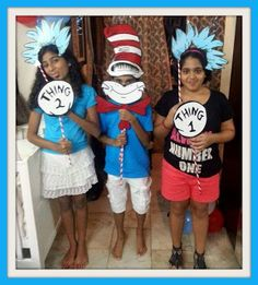 Cat in the Hat themed 1st Birthday - Photo props